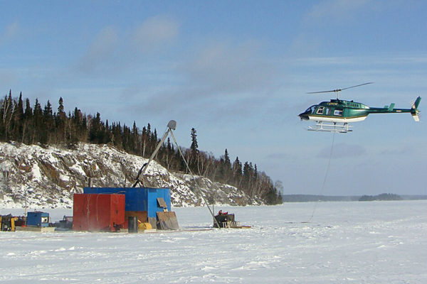 helicopter support for drilling