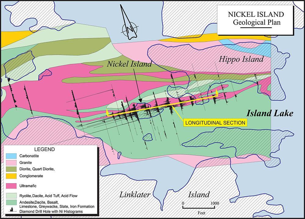 Nickel Island geological plan