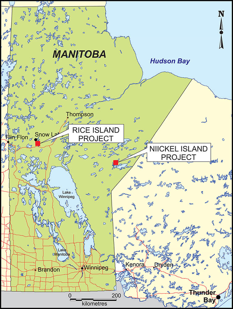 Rice Island / Nickel Island location map